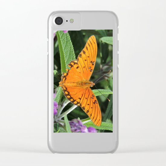A Gulf Fritillary Shows Wear and Tear Clear iPhone Case