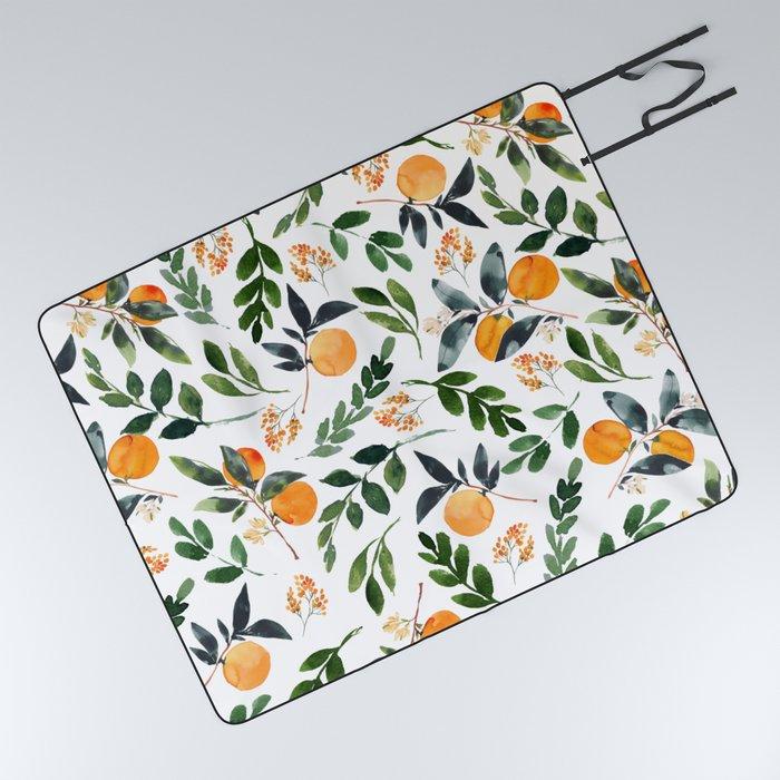 Orange Grove Picnic Blanket