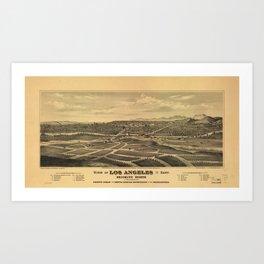 Aerial View of Los Angeles, California (1877) Art Print