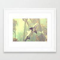 jaws Framed Art Prints featuring Jaws by Amee Cherie Piek