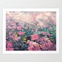 Sea of Hydrangea Art Print