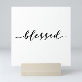 blessed typography Mini Art Print