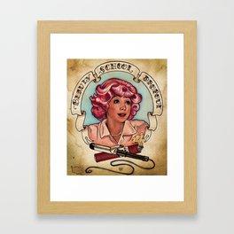 Beauty School Dropout Framed Art Print