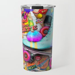Super Retro Roller Skate Night Travel Mug