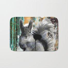 Cheeky Industrious Squirrel  Bath Mat
