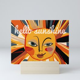 Hello sunshine Mini Art Print