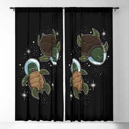 Space Turtles | Spaceman Reptile Galaxy Explorer Blackout Curtain