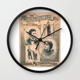 Houdini, Metamorphosis, vintage poster Wall Clock