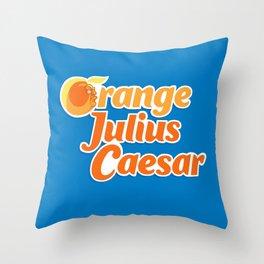 Orange Julius Caesar Throw Pillow