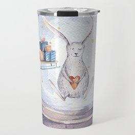 Christmas bunny #3 Travel Mug