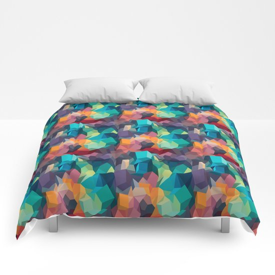 Abstract Colorful Pattern Comforters