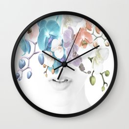 Lady Orchid Wall Clock