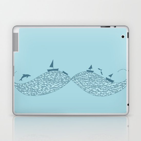 Sailor's Mustache Laptop & iPad Skin
