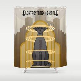 Elektrostatische Katze [Staticat] Shower Curtain