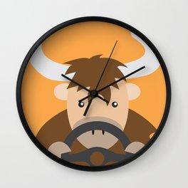 Yak Driving Wall Clock