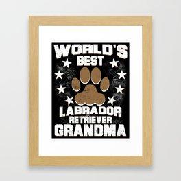 World's Best Labrador Retriever Grandma Framed Art Print