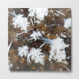 Watercolor Ice 18, Icy Poofs Metal Print
