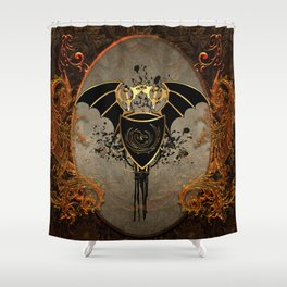 Dragon in gold and black Shower Curtain