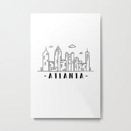 Atlanta Georgia United States Skyline Architecture Cityscape Metal Print