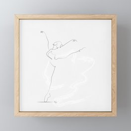 'ESSENCE', Dancer Line Drawing Framed Mini Art Print