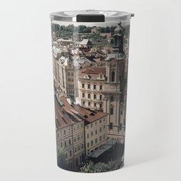 Prague rooftop Travel Mug