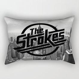 The Strokes Logo New York Black And White Rectangular Pillow