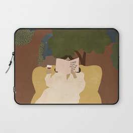 A wine a day keeps the doctor away Laptop Sleeve