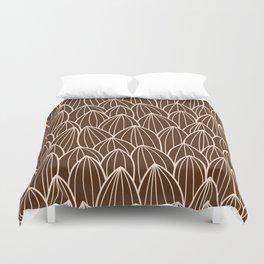 Cactus grid brown Duvet Cover