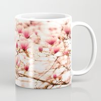 cherry blossoms Mugs featuring Cherry Blossoms by Vivienne Gucwa