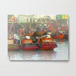 Fishingboats in Argentina Metal Print
