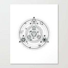 Sacred geometry and geometric alchemy design Canvas Print
