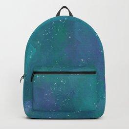 Teal Watercolour Sky Backpack