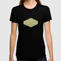 Grow Write Guild Seal Black Womens Fitted Tee X-LARGE
