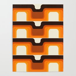 Mid-Century Modern Meets 1970s Orange Poster