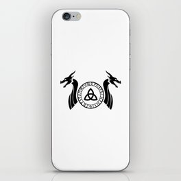 Norse Dragon - Celtic Knot iPhone Skin