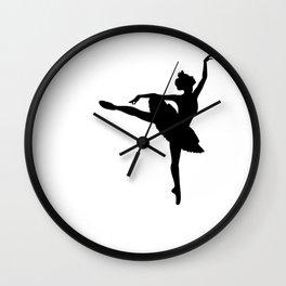 Ballerina silhouette (black) Wall Clock