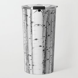 Aspen Trees in Black & White Travel Mug