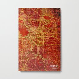 Orlando Miami us maps year 1955 Metal Print