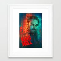 crowley Framed Art Prints featuring Crowley... MORONS! by Sempaiko