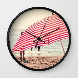 Summer Beach Umbrella Wall Clock