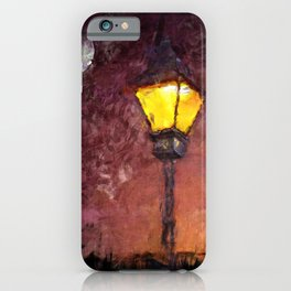 Lamp And Moon iPhone Case