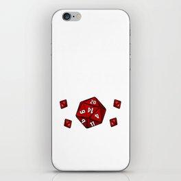 Tabletop Gaming DM Print Nope Is Strong Dragons D20 Dice Tee iPhone Skin