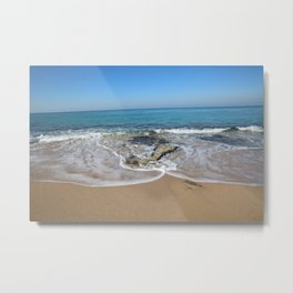 wave and blue sky Metal Print