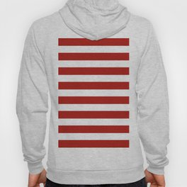 Red & White Maritime Stripes- Mix & Match with Simplicity of Life Hoody