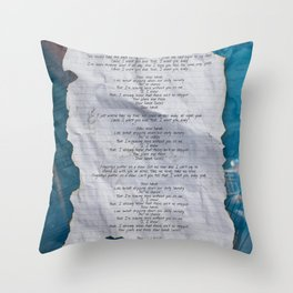 SLOW HANDS Throw Pillow