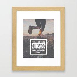 Chicago Marathon Finisher Run Running Race Framed Art Print