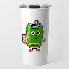 Perfect tee for energy drink lovers out there! Stay active and energized with your cute study buddy! Travel Mug