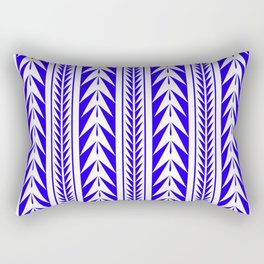 Moroccan Stripes Blue Rectangular Pillow