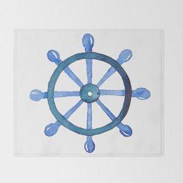 Navigating the seas Throw Blanket