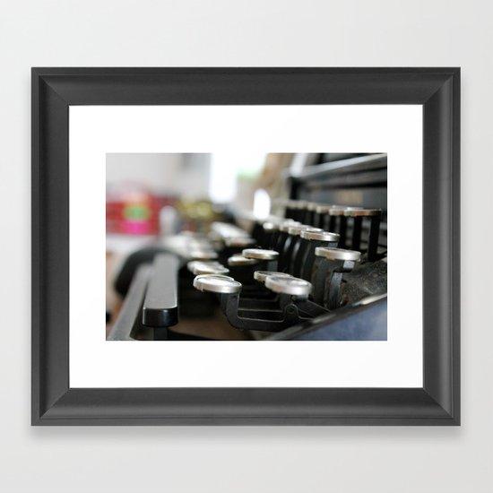 """""""writer's block"""" Framed Art Print"""